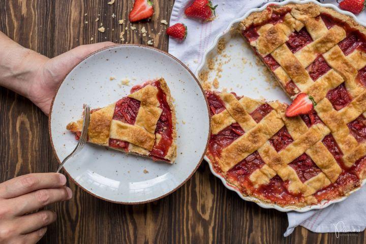 Erdbeer Rhabarber Pie Princess