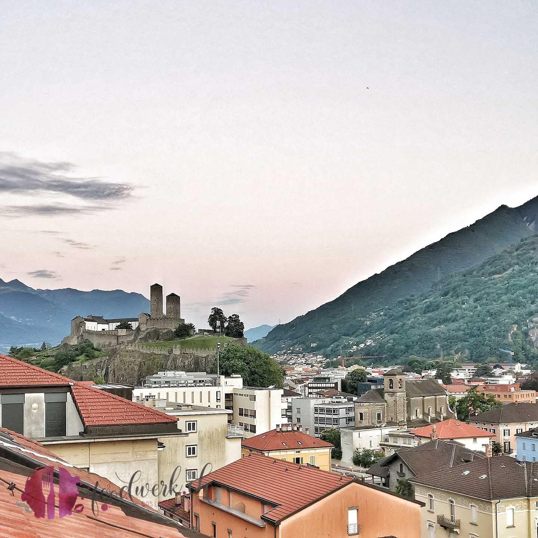 Sicht vom Hotel auf die Castell Grande