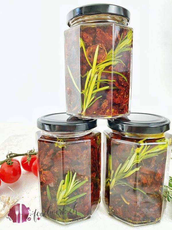 Getrocknete Tomaten im Öl