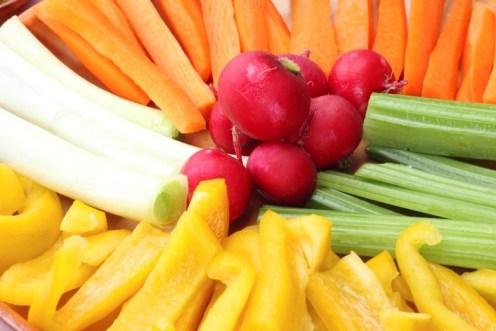 Raw vegetables for pinzimonio (vinaigrette)