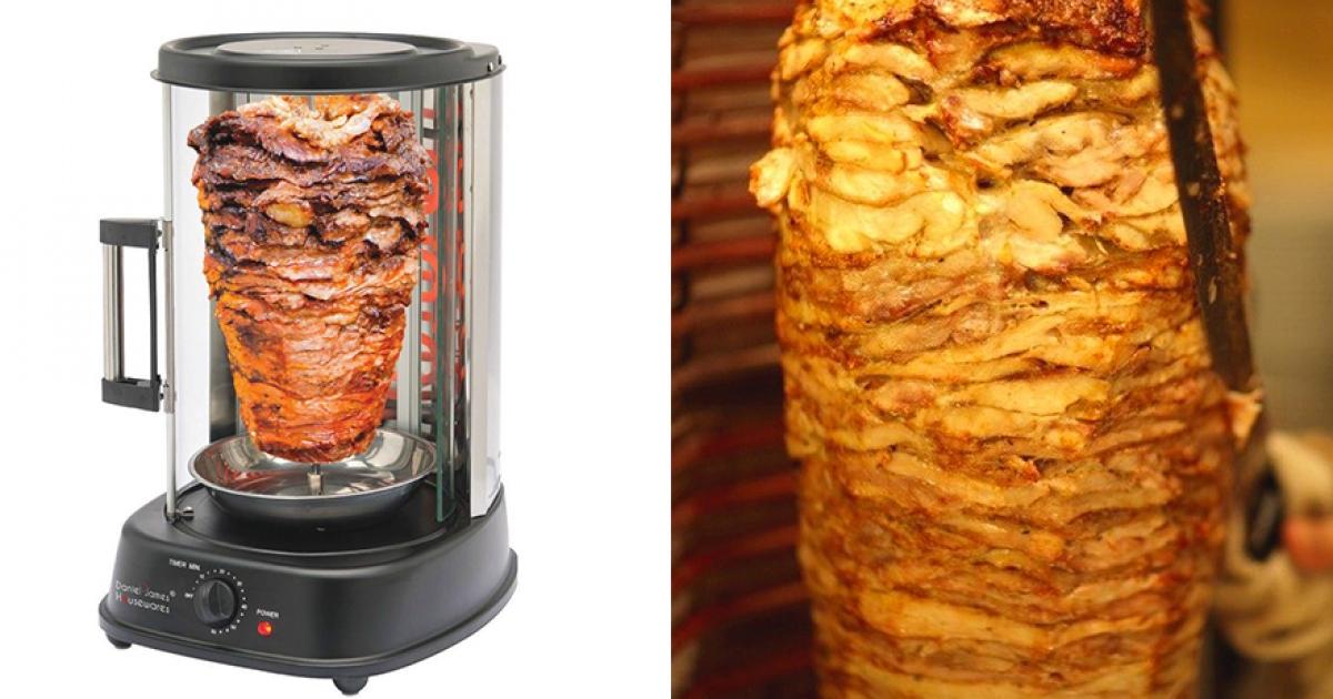 在家爽做沙威瑪! 神發明「土耳其烤肉機」各種食物都可以烤好烤滿 - Foody 吃貨