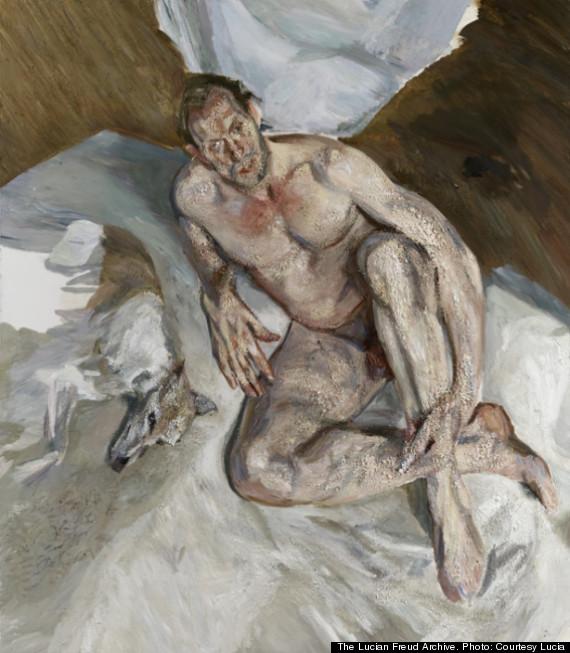 Portrait of the Hound - L. Freud