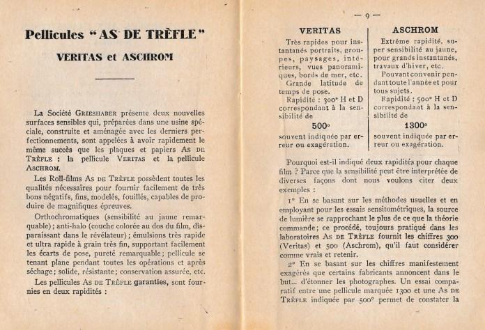 """Page 8 et 9 du """"Memento As de trèfle"""""""