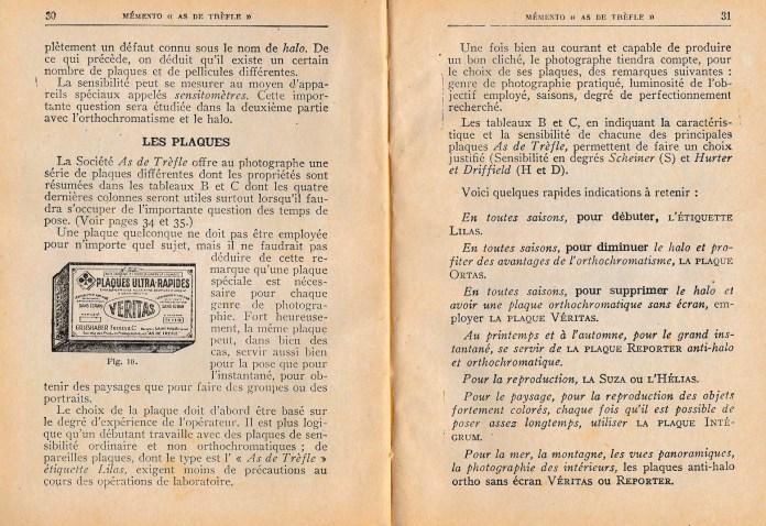 """Page 30 et 31 du """"Memento As de trèfle"""""""