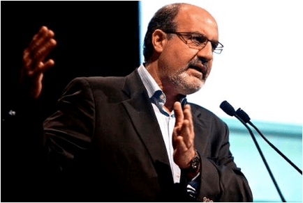 Photo of Nassim Nicolas Taleb giving a lecture