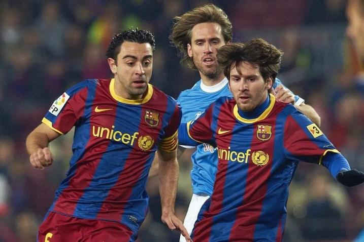 Xavi e Messi Barca