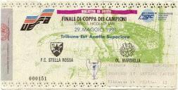 coppacampioni 1991 biglietto finale a bari