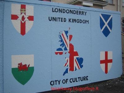 murales unionisti derry