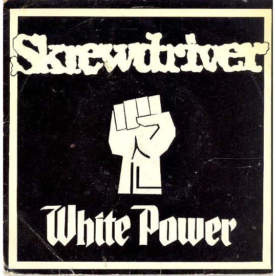 white power skrewdriver disco vinile 7''
