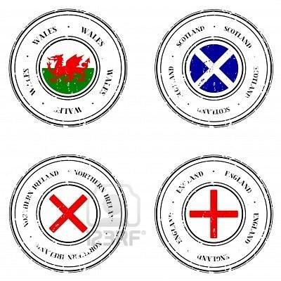 bandiere regno unito galles irlanda nord scozia inghilterra
