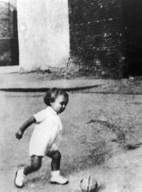 young George Best plays football 1948