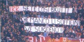 striscione roma vs lazio 1999-2000