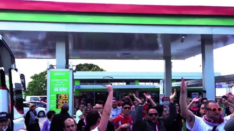 Coro ultras Curva Nord gol Perugia gol, fino al novantesimo