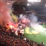 Gli ultras della curva sud e la canzone di Venditti, Roma vs Torino 2014