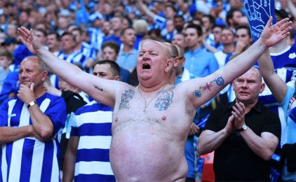 Sheffield Wednesday Fan Bare Chest