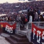 Genoa: Striscione Skin Heads Genoa stadio Olimpico di Roma contro la Lazio