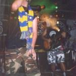 Frosinone: il cantante dei Boots Brothers con la sciarpa dei ciociari
