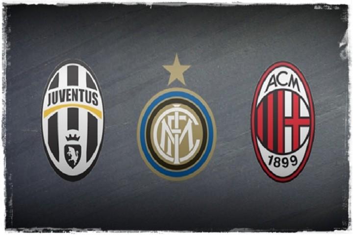 Juventus Inter e Milan le tre dominatrici della Serie A