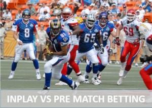 Live vs Pre Match Betting