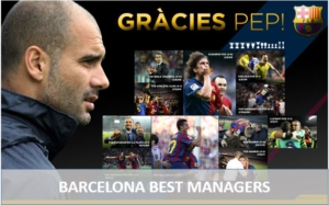 Pep Guardiola best Barcelona Manager