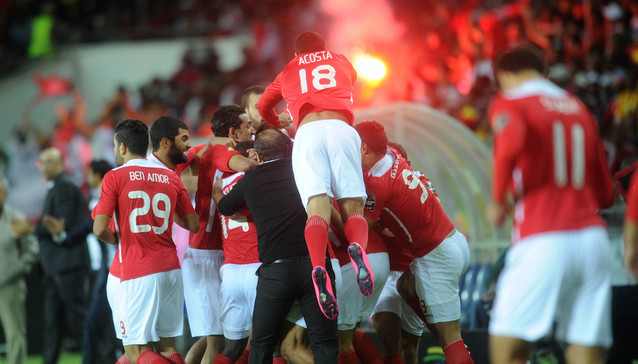 Etoile celebrating their 2015 Confederations Cup Win (Pic Cou: Kickoff.com)