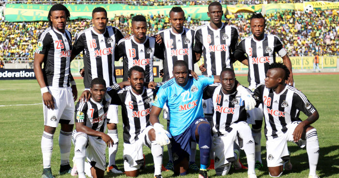 TP Mazembe lining up before the 2016 Confederations Cup Final (Pic Cou: kwesesports.com)