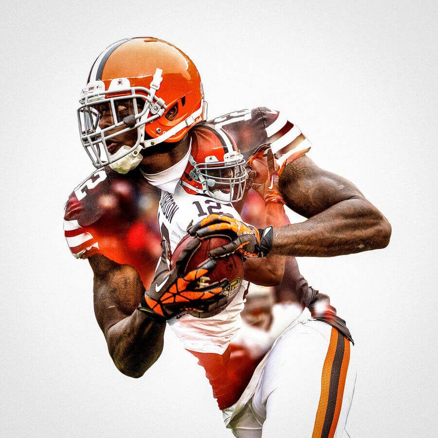 Iphone X Frame Wallpaper Cleveland Browns Josh Gordon Football Wall Posters With 6