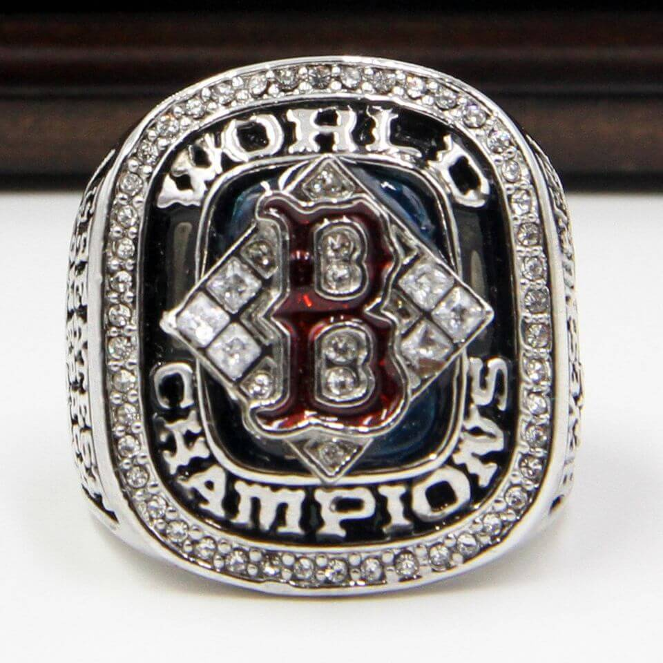 Red 2004 Rings Boston Sox Championship