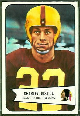 Charlie Justice  1954 Bowman 39  Vintage Football Card