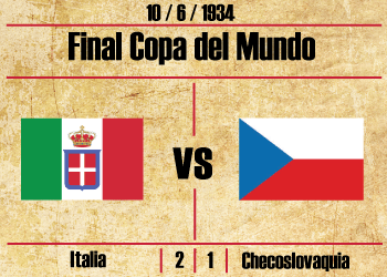 Final Mundial 1934 Italia Checoslovaquia