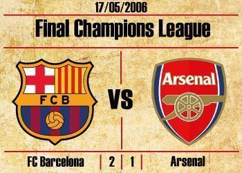 final champions league 2006 fc bacelona arsenal