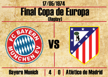 replay final copa de europa 1974 bayern munich atletico de madrid