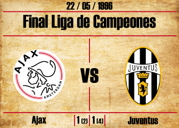 final liga de campeones 1996 ajax juventus final champions league