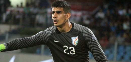 Gurpreet Singh Sandhu stood like a giant wall for Team India against Kyrgyz Republic