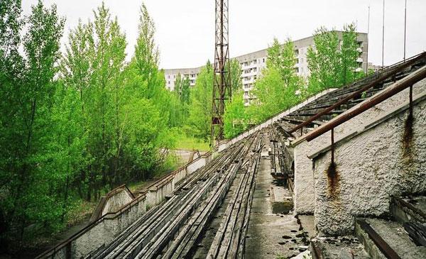 Pripyat Stadium 02 Tsjernobyl Pripyat RIP