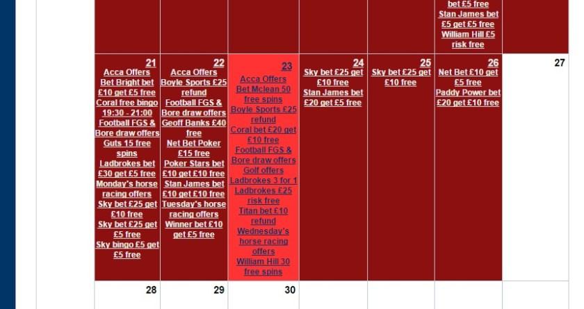 Profit Maximiser Calendar