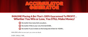 Direct Link To The Accumulator Generator Football Betting System That Works