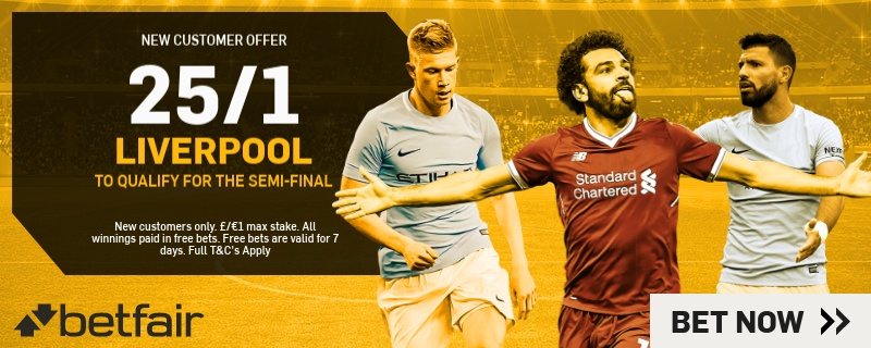25/1 Liverpool to qualify Betfair Promo