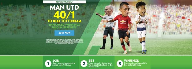 Paddy Power Man Utd V Spurs New Customer Offer