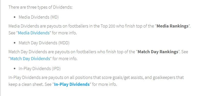 Football Index Dividends