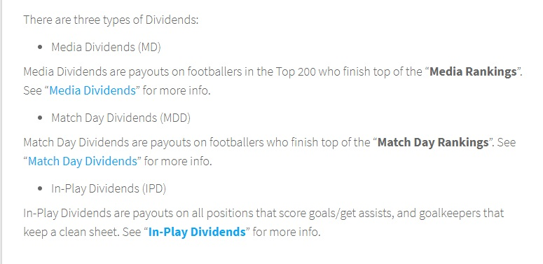 Football Index Dividends