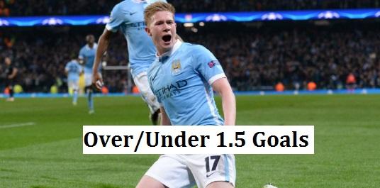 over/under 1.5 goals