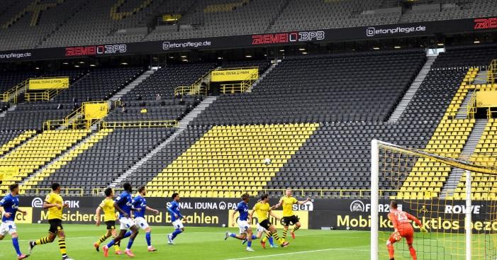 Empty Football Stadiums Caused By Coronavirus Outbreak