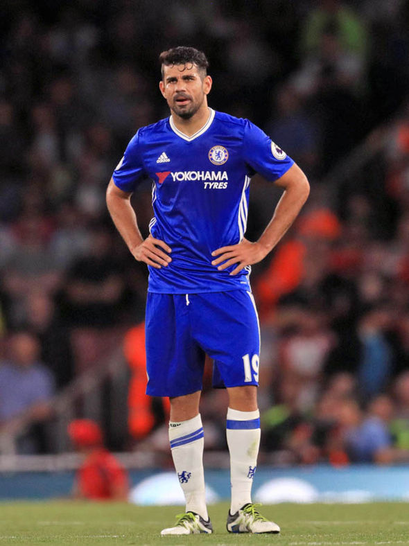 Diego Costa with Chelsea