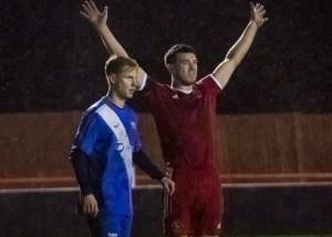 Bracknell Town captain Carl Davies against Binfield FC. Photo: Neil Graham.