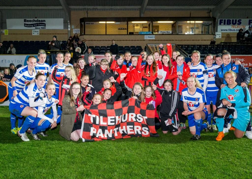 Reading Women and Tilehurst Panthers. Photo: Neil Graham.