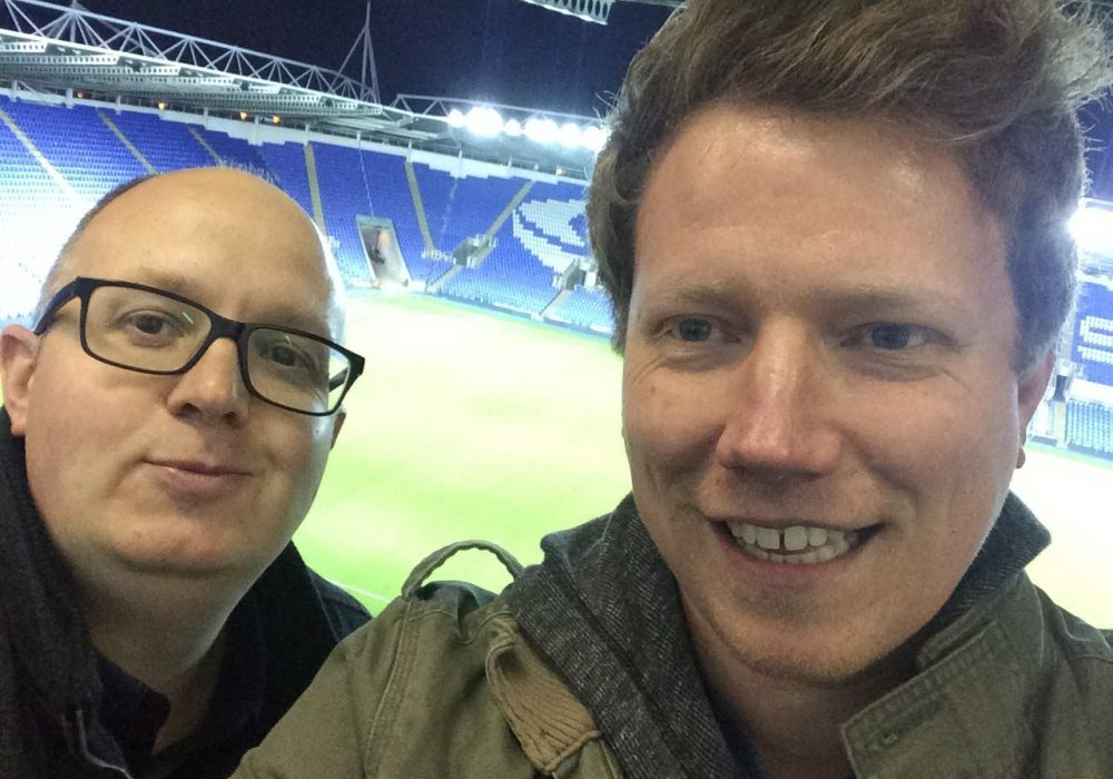 Darrell Freeland and Tom Canning, co-editors of FootballinBracknell.