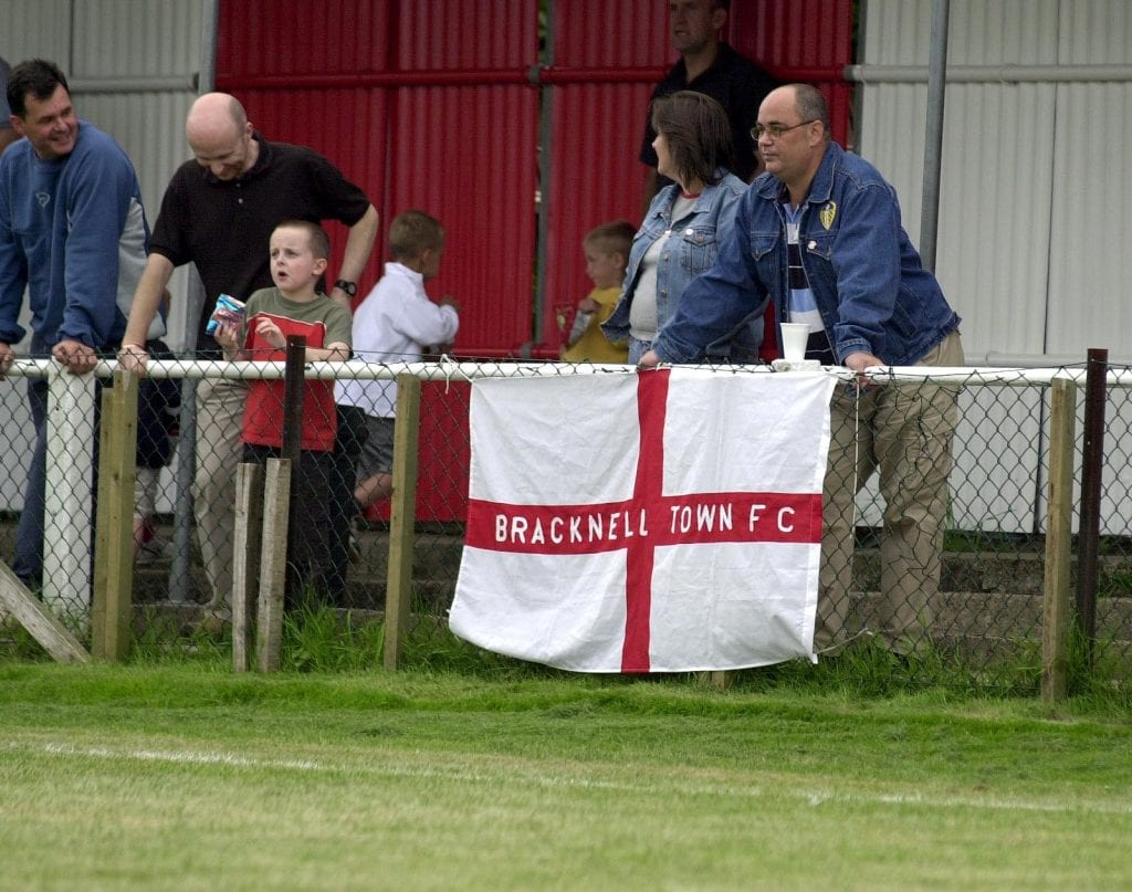 The late Roger Edwards in the crowd for Bracknell Town vs Carshalton Athletic. Photo: getreading.co.uk
