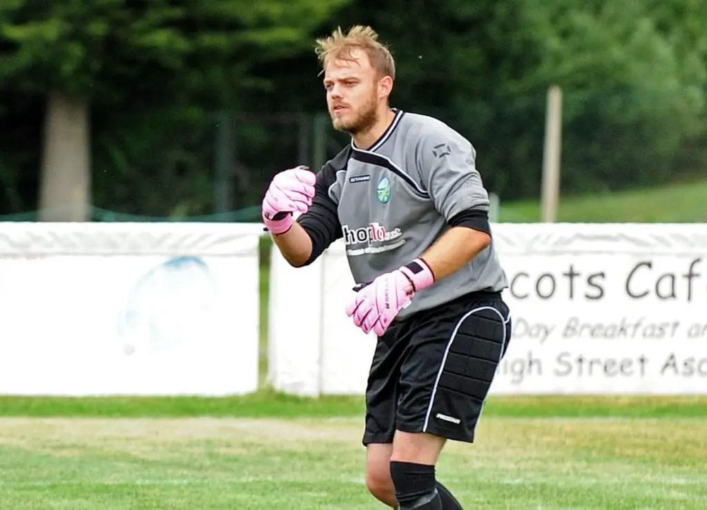 Ascot United goalkeeper Carl Dennison. Photo: Mark Pugh.