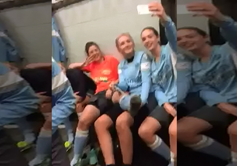 Woodley United ladies take on the mannequin challenge and it's almost perfect